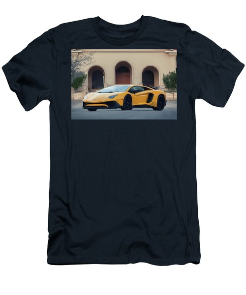 #lamborghini #aventadorsv #superveloce #print Men's T-Shirt (Athletic Fit)
