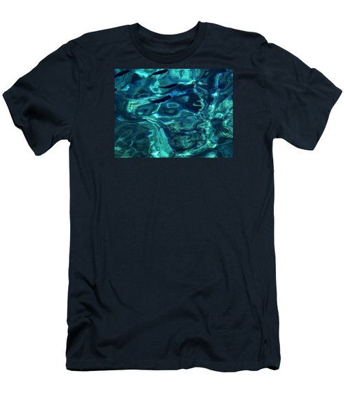 Men's T-Shirt (Slim Fit) featuring the photograph Ocean Water Santorini Greece  by Colette V Hera  Guggenheim