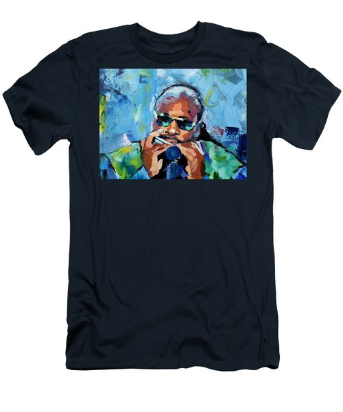 Stevie Wonder Men's T-Shirt (Slim Fit) by Richard Day