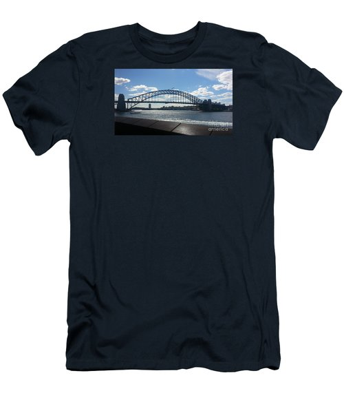 Sydney Harbor Bridge Men's T-Shirt (Slim Fit) by Bev Conover