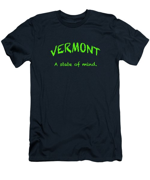 Vermont, A State Of Mind Men's T-Shirt (Slim Fit) by George Robinson