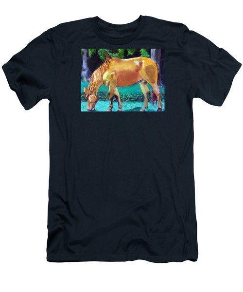 2009081315 Grazing Horse Men's T-Shirt (Athletic Fit)