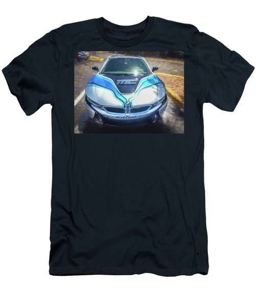 Men's T-Shirt (Slim Fit) featuring the photograph 2015 Bmw I8 Hybrid Sports Car by Rich Franco