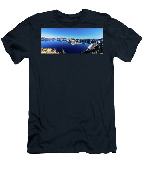 Men's T-Shirt (Athletic Fit) featuring the photograph Crater Lake by Jonny D