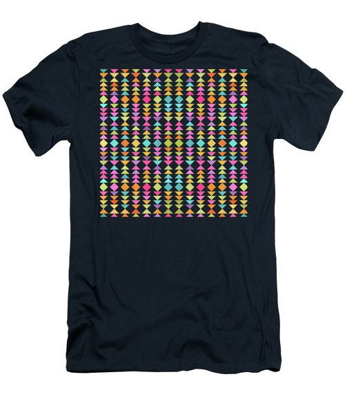Geometric Pattern  Men's T-Shirt (Athletic Fit)
