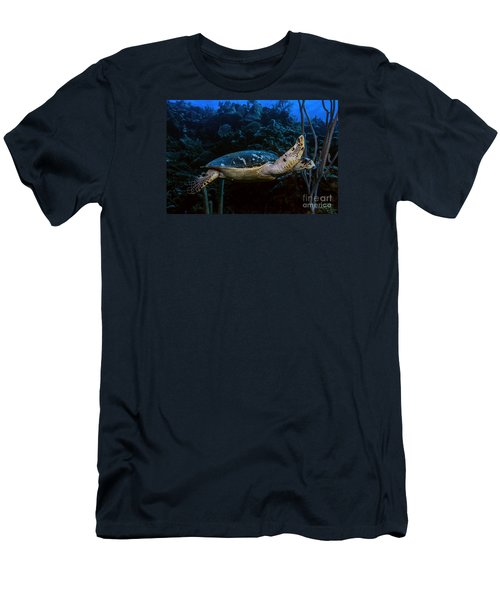 Men's T-Shirt (Slim Fit) featuring the photograph Hawksbill Turtle by JT Lewis