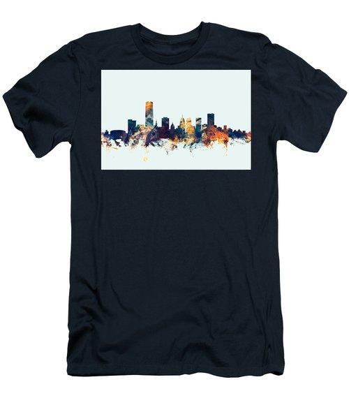 Oklahoma City Skyline Men's T-Shirt (Athletic Fit)