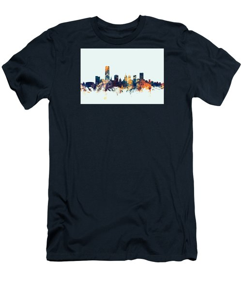 Oklahoma City Skyline Men's T-Shirt (Athletic Fit)