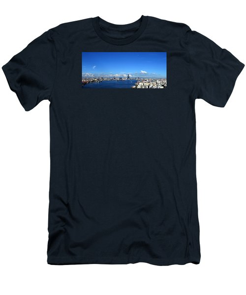 Men's T-Shirt (Athletic Fit) featuring the photograph Panorama Of Kaohsiung City In Taiwan by Yali Shi