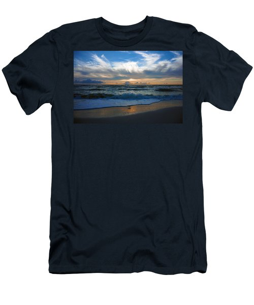 Sunset At Delnor-wiggins Pass State Park Men's T-Shirt (Athletic Fit)