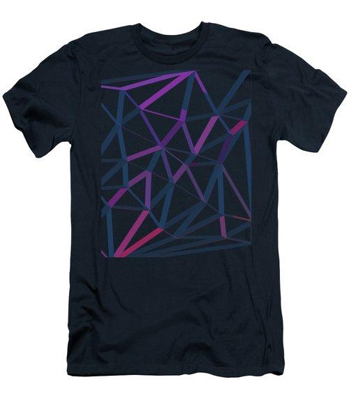3d Futuristic Geo Lines II Men's T-Shirt (Athletic Fit)