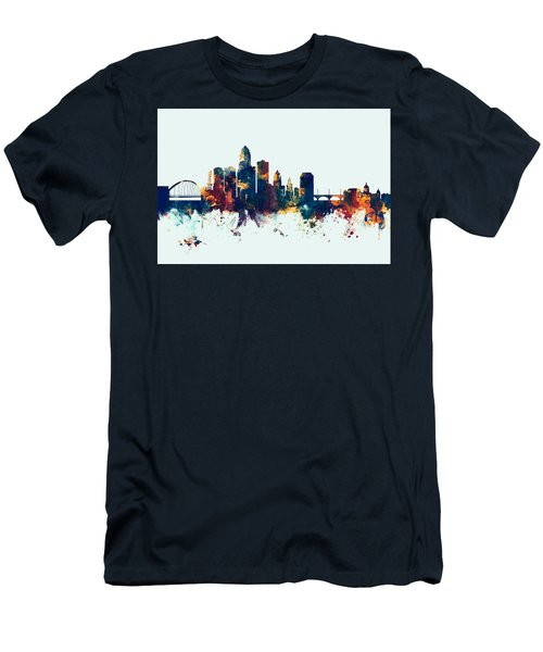 Des Moines Iowa Skyline Men's T-Shirt (Athletic Fit)
