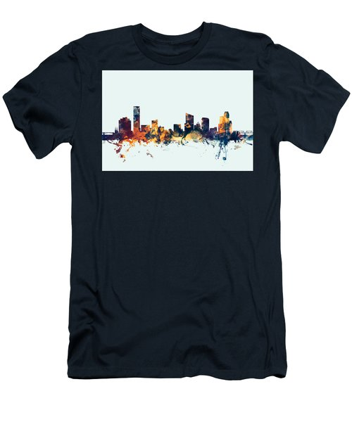Grand Rapids Michigan Skyline Men's T-Shirt (Athletic Fit)
