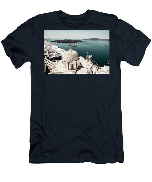 Oia, Santorini - Greece Men's T-Shirt (Athletic Fit)