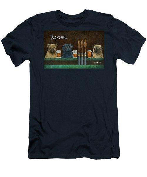 Pug Crawl... Men's T-Shirt (Athletic Fit)