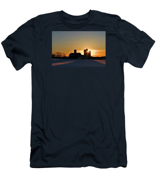 Men's T-Shirt (Slim Fit) featuring the photograph 4 Silos by Judy  Johnson