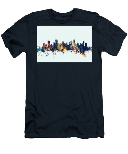 Vancouver Canada Skyline Men's T-Shirt (Athletic Fit)