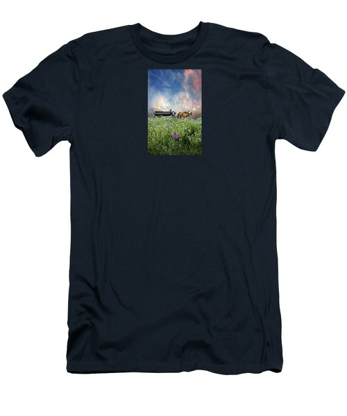 Men's T-Shirt (Slim Fit) featuring the photograph 4376 by Peter Holme III