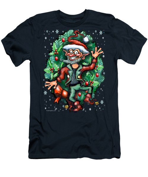 Christmas Elf Men's T-Shirt (Slim Fit) by Kevin Middleton