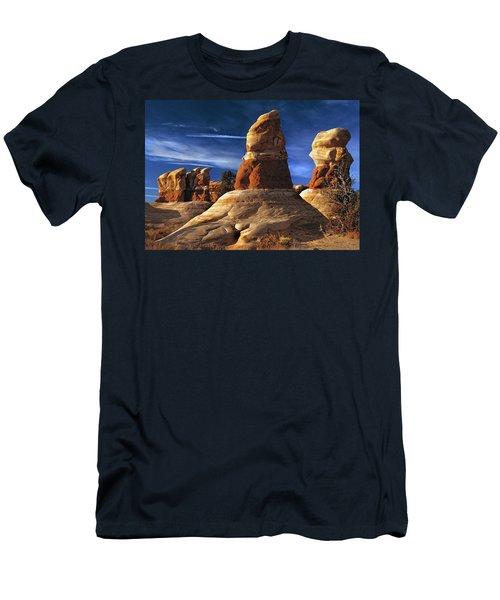 Sandstone Hoodoos In Utah Desert Men's T-Shirt (Athletic Fit)