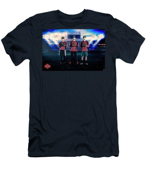 Men's T-Shirt (Slim Fit) featuring the digital art Southwest Aztecs Baseball Organization by Nicholas Grunas