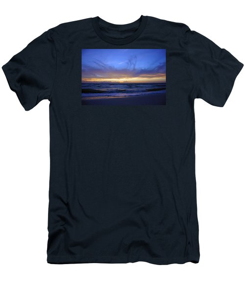 Sunset At Delnor Wiggins Pass State Park Men's T-Shirt (Slim Fit) by Robb Stan