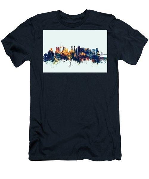 Tokyo Japan Skyline Men's T-Shirt (Slim Fit) by Michael Tompsett