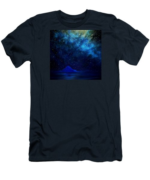Men's T-Shirt (Slim Fit) featuring the painting Cosmic Light Series by Len Sodenkamp
