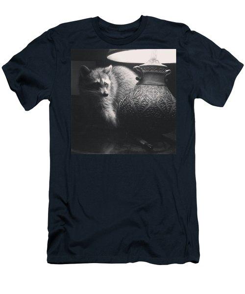 Crazy Coon  Men's T-Shirt (Athletic Fit)