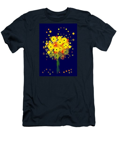 952 - Summer Flowers  Yellow ... Men's T-Shirt (Slim Fit) by Irmgard Schoendorf Welch