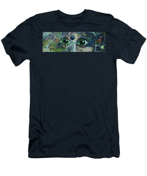 A Astronaut Dreams Of Her Infinite Cosmos Men's T-Shirt (Slim Fit) by Jame Hayes