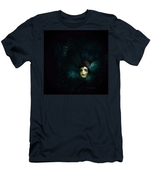 Men's T-Shirt (Athletic Fit) featuring the digital art A Basement Apartment by Delight Worthyn