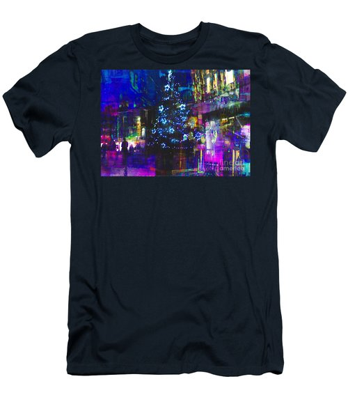 Men's T-Shirt (Slim Fit) featuring the photograph A Bright And Colourful Christmas by LemonArt Photography