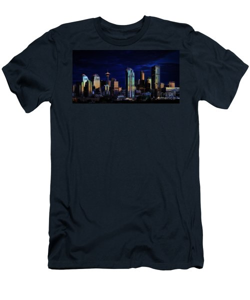 Men's T-Shirt (Slim Fit) featuring the photograph A Calgary Sunrise by Brad Allen Fine Art