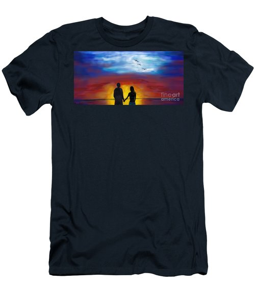 Men's T-Shirt (Athletic Fit) featuring the painting A Captivating Love by Leslie Allen