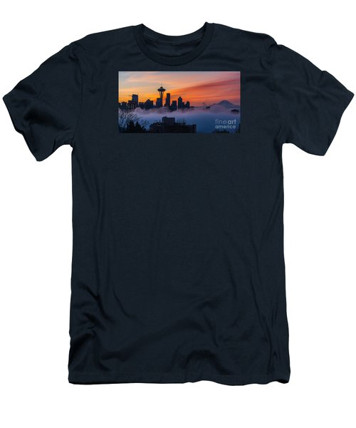 A City Emerges Men's T-Shirt (Slim Fit) by Mike Reid