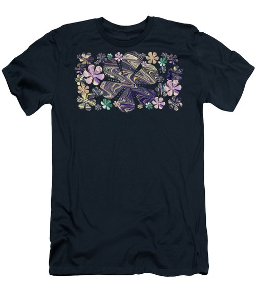 A Field Of Whimsical Flowers Men's T-Shirt (Athletic Fit)