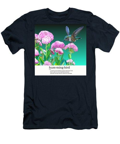 A Hummingbird Visits Men's T-Shirt (Athletic Fit)