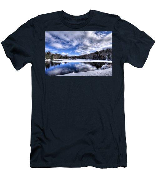 Men's T-Shirt (Slim Fit) featuring the photograph A Moose River Snowscape by David Patterson