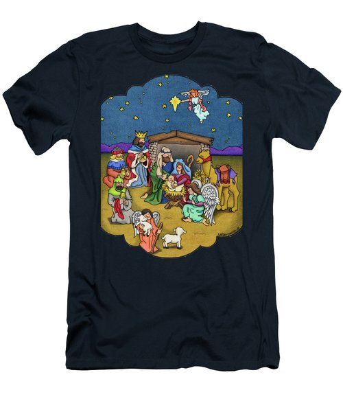 A Nativity Scene Men's T-Shirt (Slim Fit) by Sarah Batalka