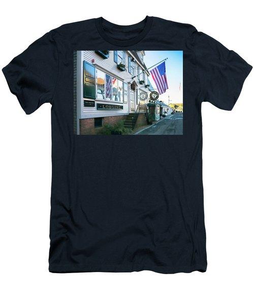 A Newport Wharf Men's T-Shirt (Slim Fit) by Nancy De Flon