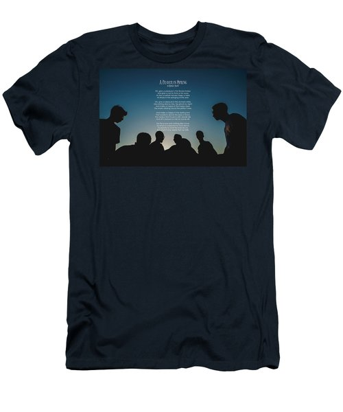 A Prayer In Spring By Robert Frost Men's T-Shirt (Athletic Fit)