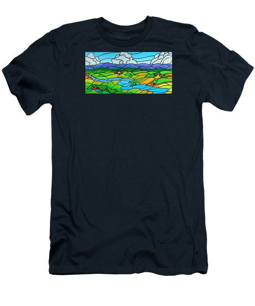 A River Runs Through It Men's T-Shirt (Slim Fit) by Jim Harris