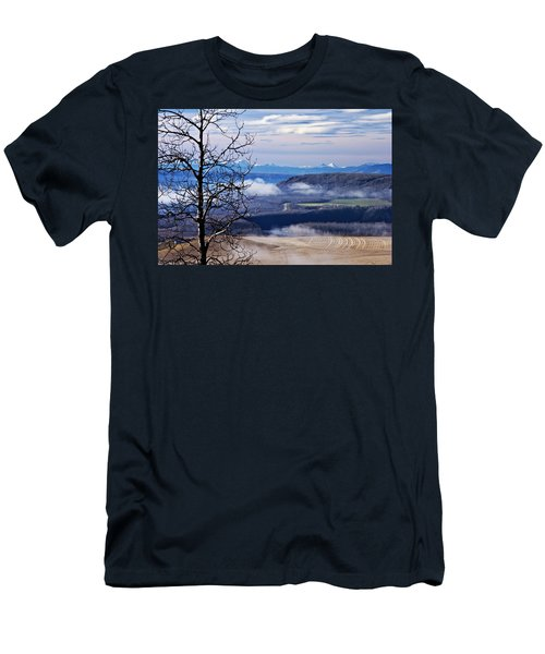 A Road Half Way There Men's T-Shirt (Slim Fit) by Sandra Foster
