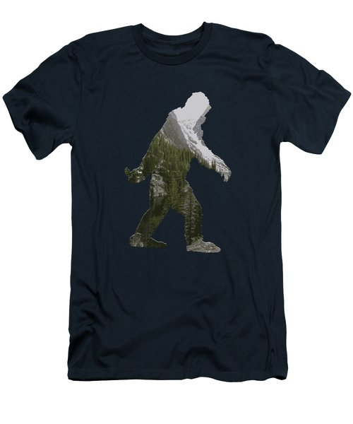 A Sasquatch Bigfoot Silhouette In The Rockies Men's T-Shirt (Athletic Fit)