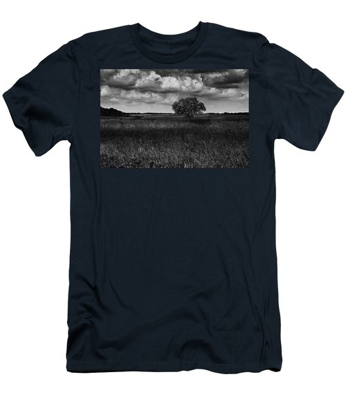 Men's T-Shirt (Slim Fit) featuring the photograph A Storm Is Coming To Wyoming Grasslands by Jason Moynihan