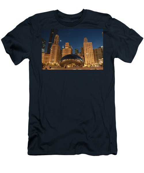 A View From Millenium Park At Night Men's T-Shirt (Athletic Fit)
