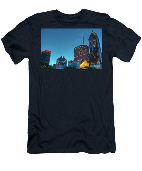 A View From Millenium Park Men's T-Shirt (Athletic Fit)