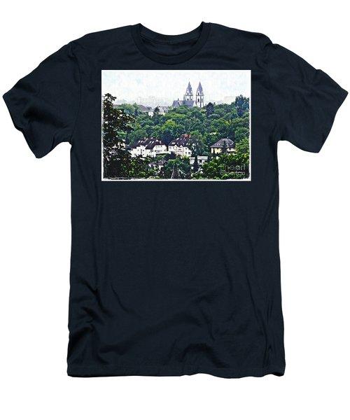 A View Of Wiesbaden Men's T-Shirt (Slim Fit) by Sarah Loft