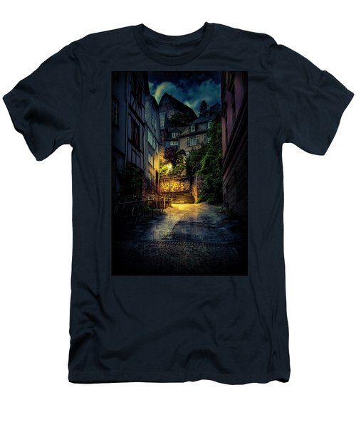Men's T-Shirt (Athletic Fit) featuring the photograph A Wet Evening In Marburg by David Morefield
